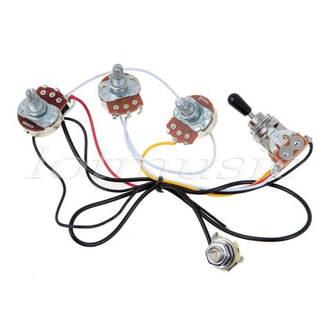 Tone Pot Wiring by Guitar Wiring Harness With 2 Volume 1 Tone Pots 500k 3 Way