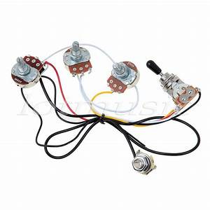 Electric Guitar Wiring Harness Kit 3 Way Toggle Switch 2