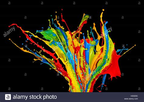 Abstract Black Color Splash by Color Splash Stock Photos Color Splash Stock Images Alamy
