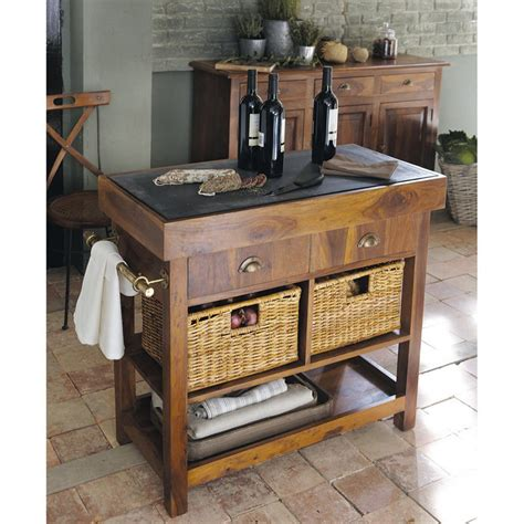 cuisine maisons du monde billot en bois luberon meubles de cuisine maisons de monde ventes pas cher com