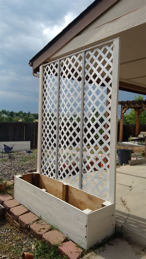 Outside Trellis by Lattice Privacy Screen Planter My Projects