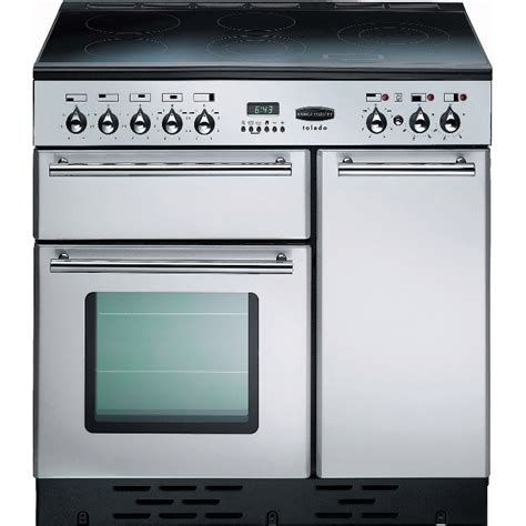 electric range cookers 90cm buy rangemaster tols90eiss toledo stainless steel with chrome trim 90cm electric induction range