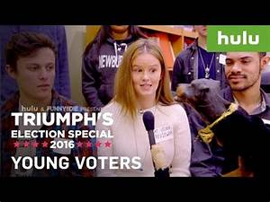Triumph the Insult Comic Dog goes to a college and ...