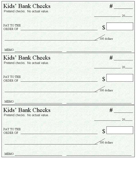 blank check template printable 17 best images about classroom checkbook on