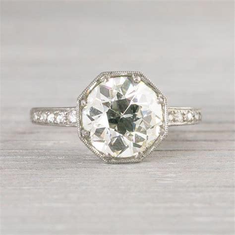 2 30 carat vintage deco engagement ring