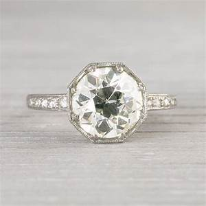 230 carat vintage art deco engagement ring With vintage art deco wedding rings