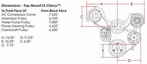 Billet Specialties Tru Trac Chevy Ls1 Ls2 Ls3 Ls6 Ls7 Serpentine Engine Kit A  C