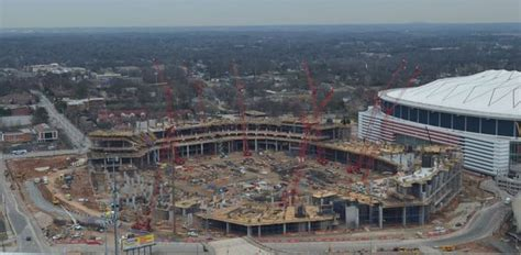 Great Shot Of The Construction Of The New Stadium In