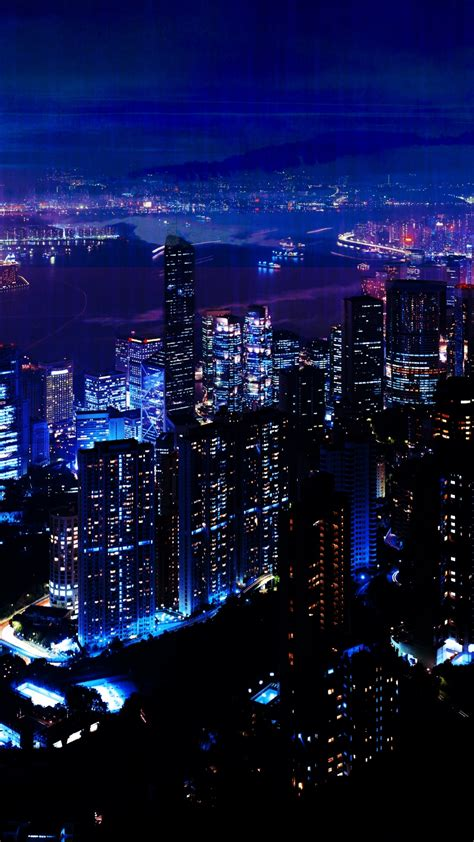 night city sky skyscrapers iphone  wallpaper