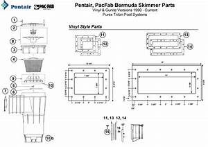 Pentair  Pacfab Bermuda Skimmer Parts