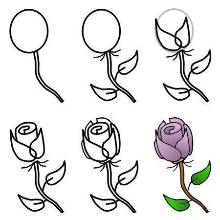draw  rose step  step  kids