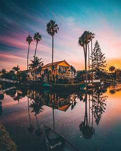 Itap Of The Venice Beach Canals At Sunset   Itookapicture