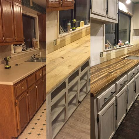 cheap kitchen cabinets before after countertops diy cheap this is 2 x 4 wood 6763