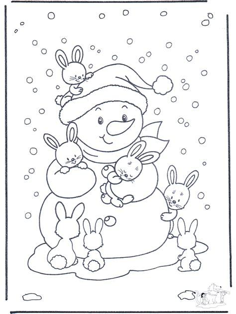 ausmalbilder schnee gratis malvorlagen wintertiere