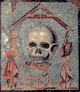 Ancient Roman Mosaic Painting by Larry Lamb