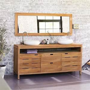 meuble salle de bain teck colonial collection et meuble de With meuble salle de bain teck colonial