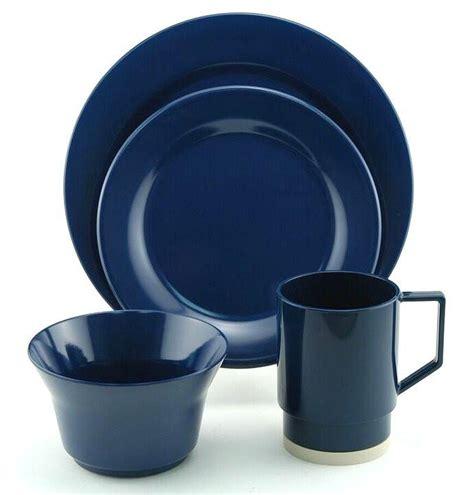 melamine dinnerware nautical sets non skid classics navy