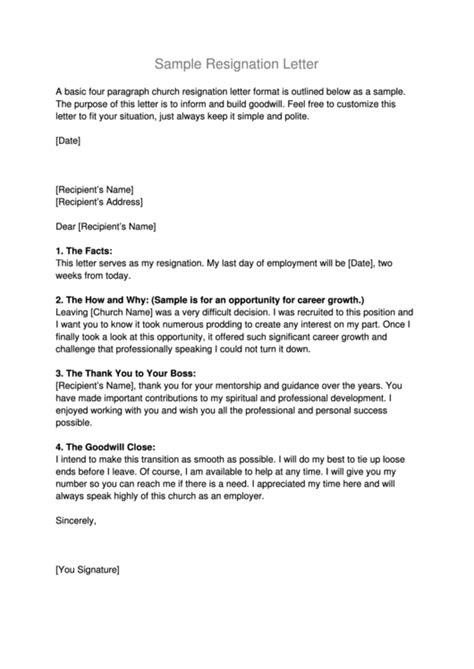 Resignation Letter For Career Growth - Sample Resignation Letter