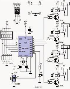Electrical Engineering World  Home Remote Control Circuit