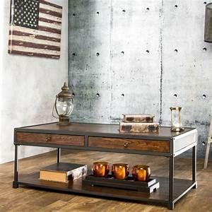 Table Basse Bois Metal : personnalisez votre salon avec le meuble tv industriel ~ Teatrodelosmanantiales.com Idées de Décoration