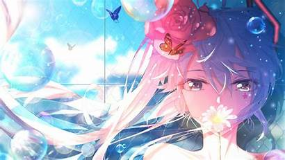Anime Miku Hatsune Wallpapers Desktop Cartoons Maedchen