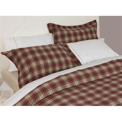 Design Port Bedding by Design Port Winton And Beige Tartan Plaid Brushed