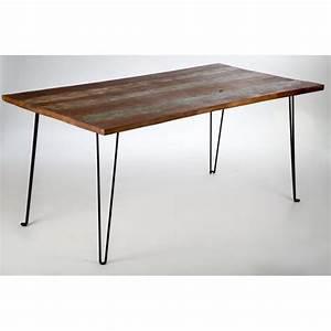 Pied De Table En Bois : table bois recycl color pieds m tal ~ Dailycaller-alerts.com Idées de Décoration