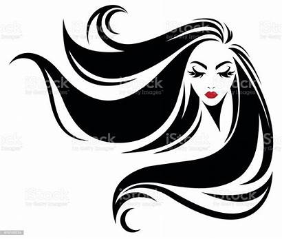 Hair Vector Icon Background Clip Illustration Abstract