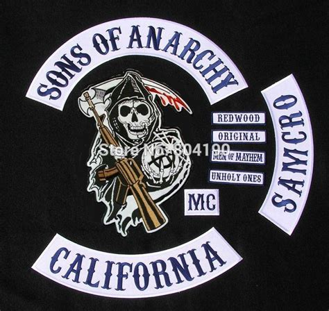 sons of anarchy patches 2019 16 inches large sons of anarchy biker vest soa grim