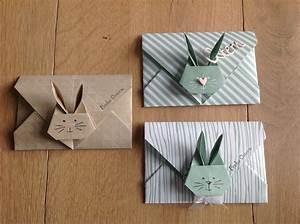 Hase Basteln Einfach : stampin 39 up umschlag origami hase rabbit ostern pinte ~ Orissabook.com Haus und Dekorationen