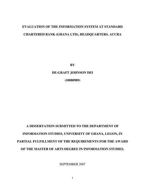 (PDF) EVALUATION OF THE INFORMATION SYSTEM AT STANDARD