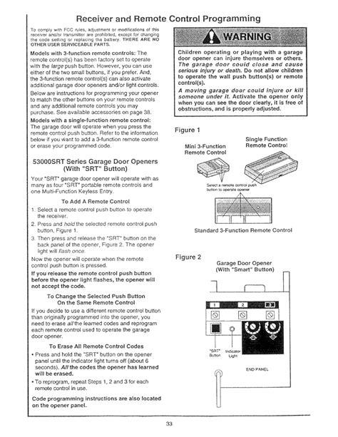 program craftsman garage remote receiver and remote programming