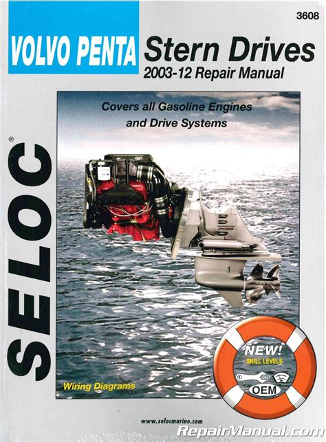 seloc volvo penta stern drive   boat repair manual
