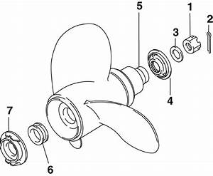 Propeller Hardware Parts For 2006 90hp Bj90px4sda Outboard