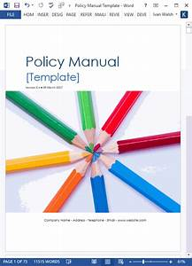 Policy Manual Template  Ms Word   U2013 Templates  Forms