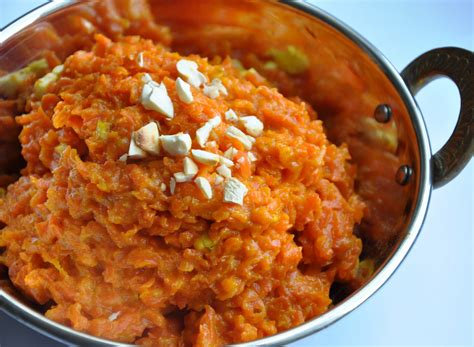 indian dessert with carrots gajar ka halwa an indian carrot pudding 342 calories honey whats cooking