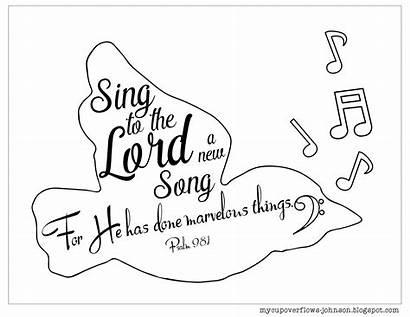 Coloring Pages Worship Bible Praise Inspirational Sing