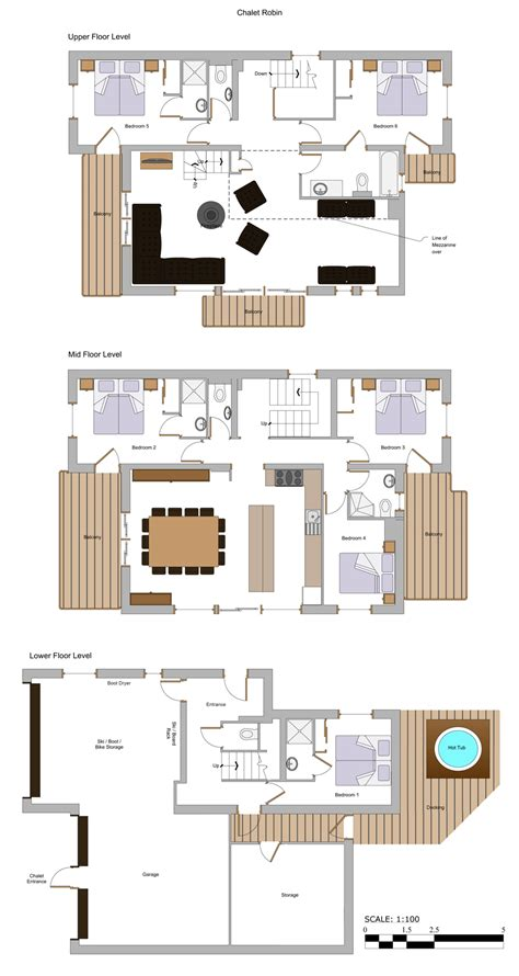 chalet floor plans chalet robin more mountain