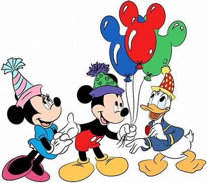 Mickey Birthday Clip Minnie Donald Mouse Disney