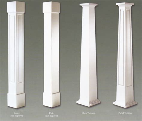 pvc craftsman column wraps colonial pillars