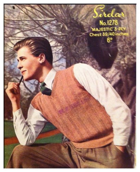 roger moore model an old knitting pattern featuring sir roger moore