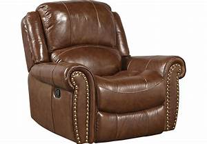 Abruzzo Brown Leather Glider Recliner - Recliners (Brown)