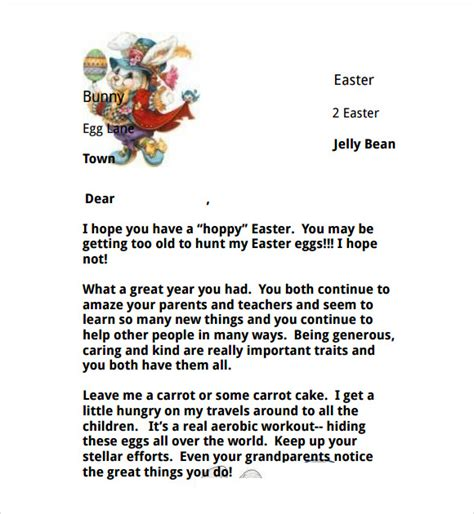 Letter To Easter Bunny Template by 8 Easter Bunny Letters To For Free Sle Templates