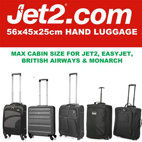 cabin suitcase size jet 2 holidays 56x45x25 max large cabin carry luggage