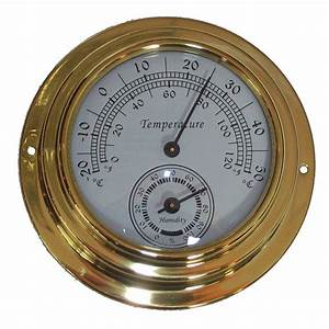 10cm Dial Brass Case Thermometer Hygrometer
