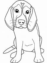 Hound Basset Clipart Clip Coloring Pages sketch template