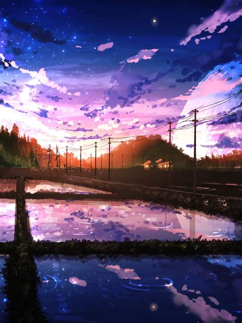 beautiful anime scenery wallpaper  gambarku