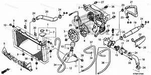 Honda Atv 2008 Oem Parts Diagram For Radiator