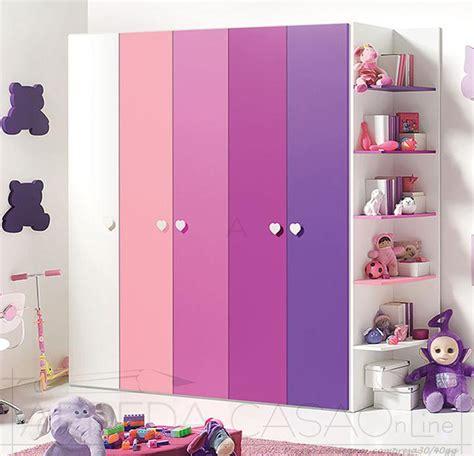armadio cameretta bimbi armadio 5 ante libreria cameretta bambini gt0048arm ebay