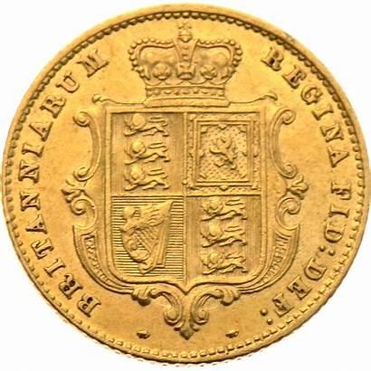 Sovereign Half Gold Victorian Shield 1860 Coin